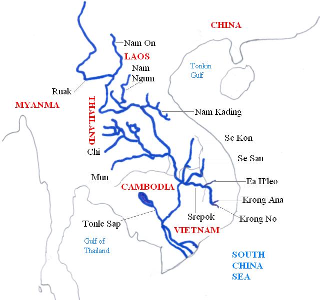 Le Mékong et ses affluents