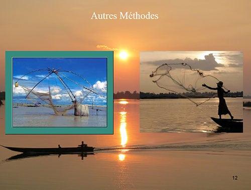 Techniques de pêche le long du Mékong
