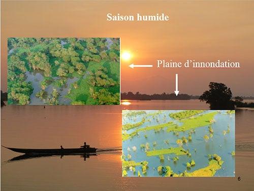 Le fleuve Mékong pendant la Mousson