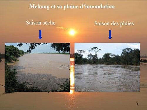 Le fleuve Mékong pendant les différentes saisons