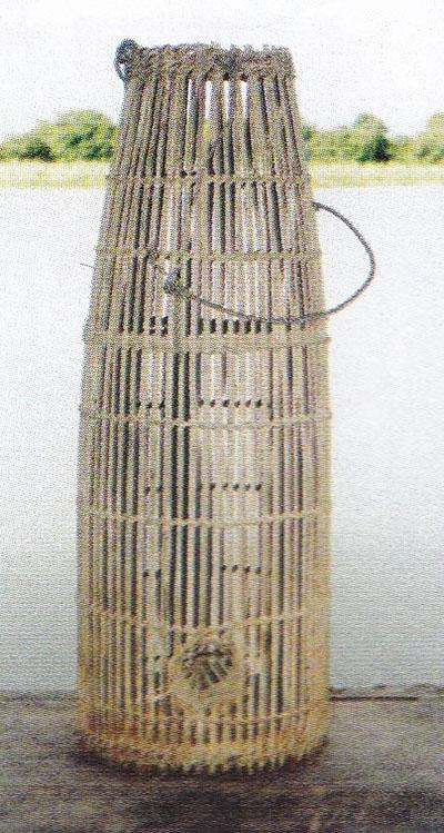 Piège pour la pêche en bambou