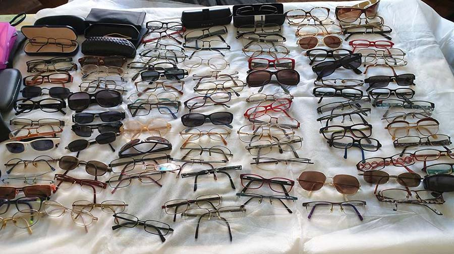 Tri et conditionnement des lunettes